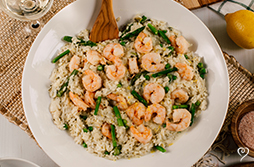 Professional photo of Sprintime Risotto with Shrimp and Asparagus by Katheryn Moran