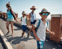 Family tourists