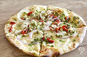 Summer Grilled Pesto Chicken Pizza