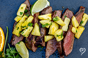 Grilled Mojo Steak with Pineapple Salsa