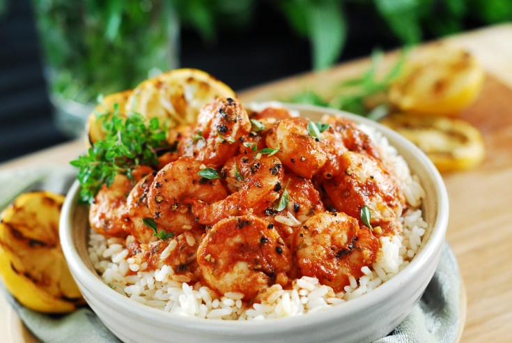 Dream Dinners Retired Recipe BBQ Shrimp and Rice