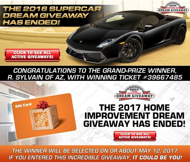What Happens in the Dream Giveaway® Garage on Friday, May 12, 2017?