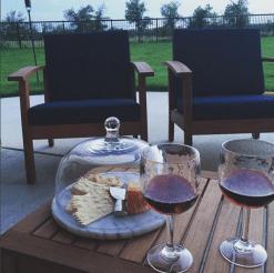 drinks on patio