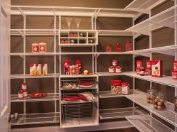Pantry with wire shelving