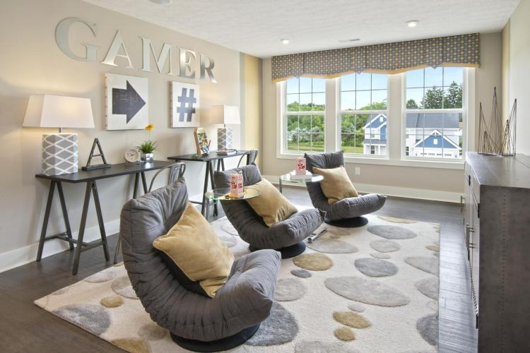 A gameroom featuring gaming seats by Drees Homes in Cleveland