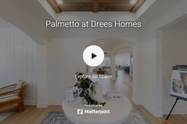 3D Tour of the Palmetto model home at TrailMark in St. Augustine, FL