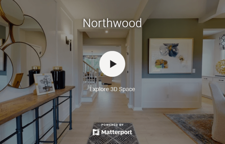 virtual tour of the Northwood model home at Bloomfield Estates in Willow Spring, NC.