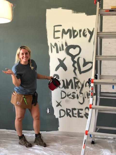 Instagram woodworking sensation Sam Ryan paints Drees home for deserving Washington D.C. military family