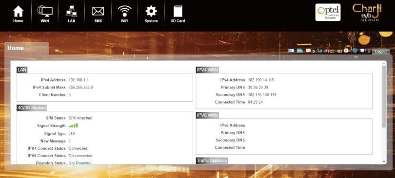 PTCL Admin HomePage
