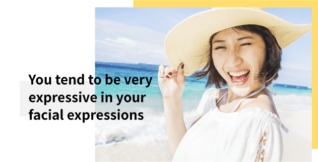 Expressive expressions cause wrinkles