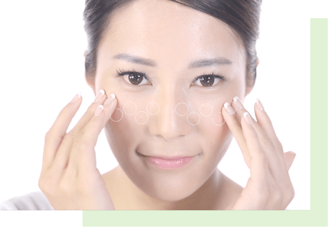 Skin care press and roll method