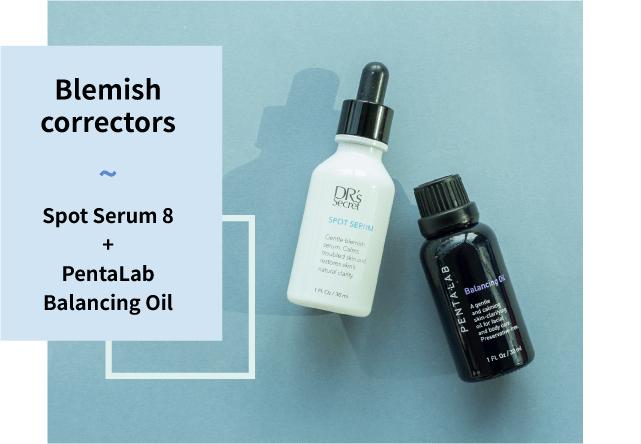Spot serum 8 and Pentalab balancing oil