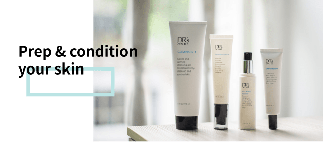 DR's Secret prep and condition your skin