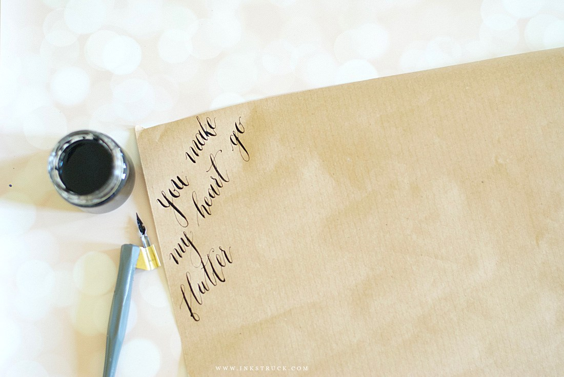 Lettering gift wrap