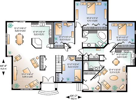 wwwdrummondhouseplanscom multigenerational floor plan no 2278 mail level Home Building Plans
