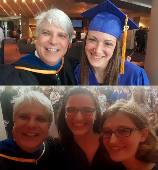 Three homeschool graduates who are planning to study chemistry at the university level.