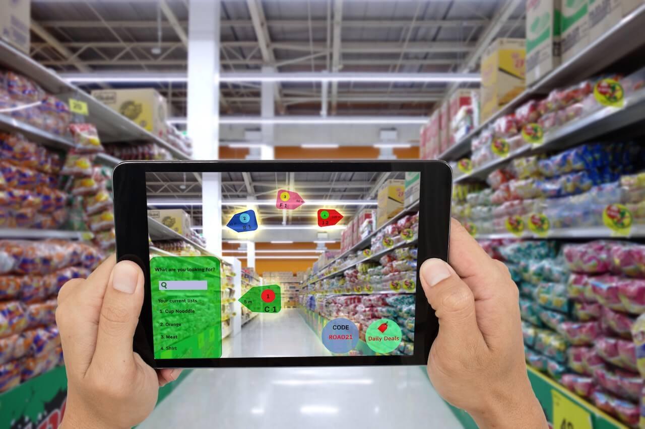 imagem para realidade virtual e aumentada no varejo
