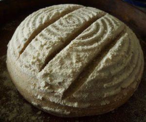 Slashed dough