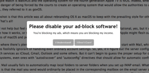 Ad Block Off request