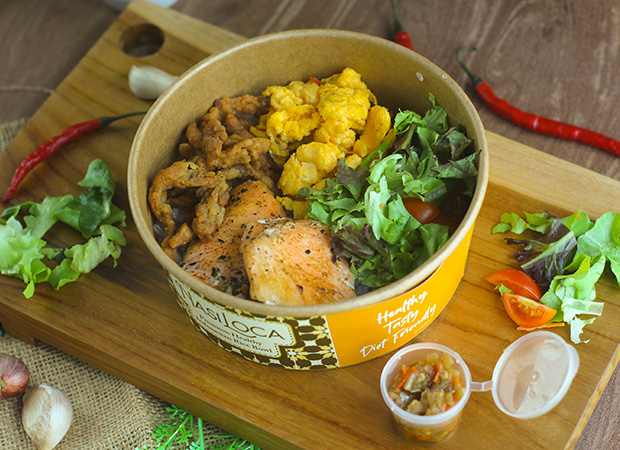 Shirataki Nasi Oseng Salmon Dabu Dabu dok. duniamasak.com