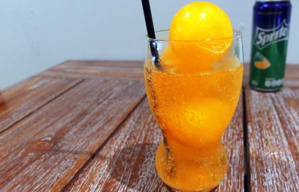 D'low Orange Snowball Iced via duniamasak