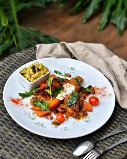 Moroccan Chicken Tagine with pumpkin and Cous-cous via dok. Grand Whiz Poins Square