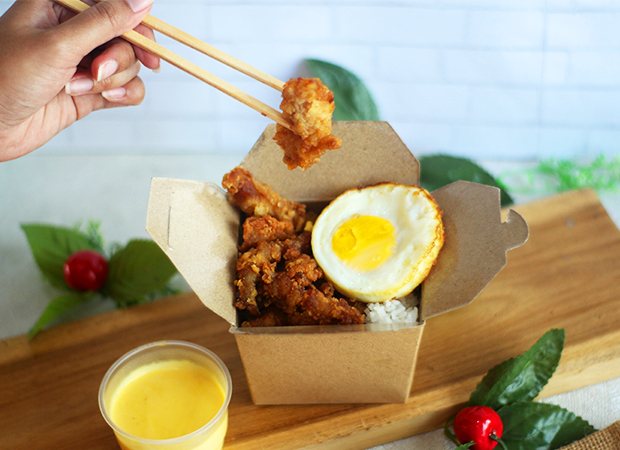 Steamed Rice Chicken with-Salted Egg dok. duniamasak