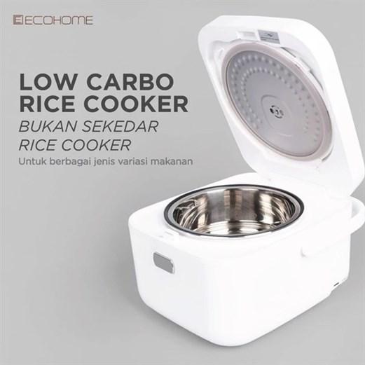 Ecohome Rice cooker low carbo ELS 888 via duniamasak.com