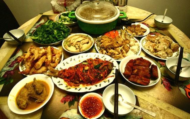 Makan malam imlek via food.detik.com