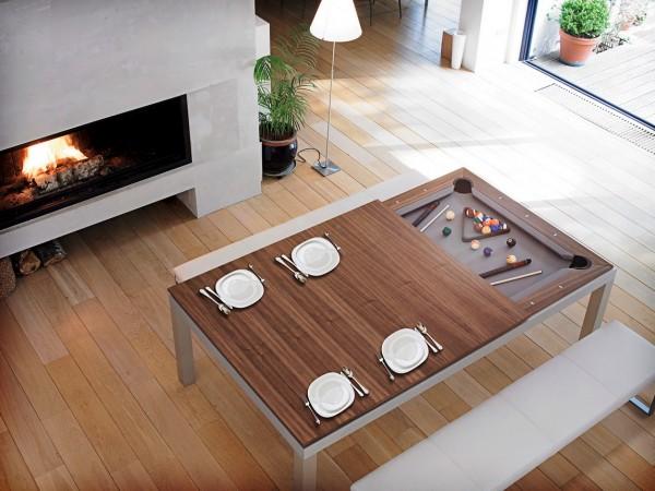 Meja makan billiard via home-designing.com ala duniamasak