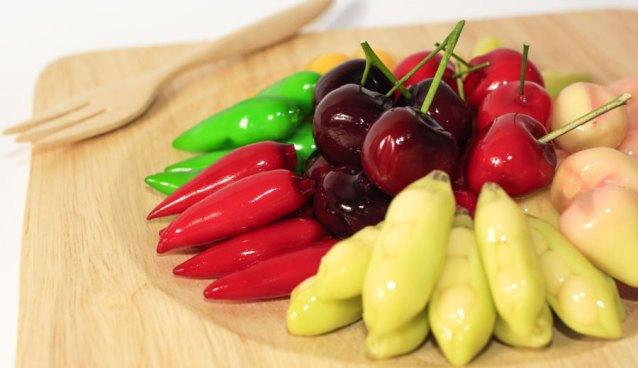 cara membuat kue ku mini bentuk buah via article.shopspot.co.th ala tim duniamasak