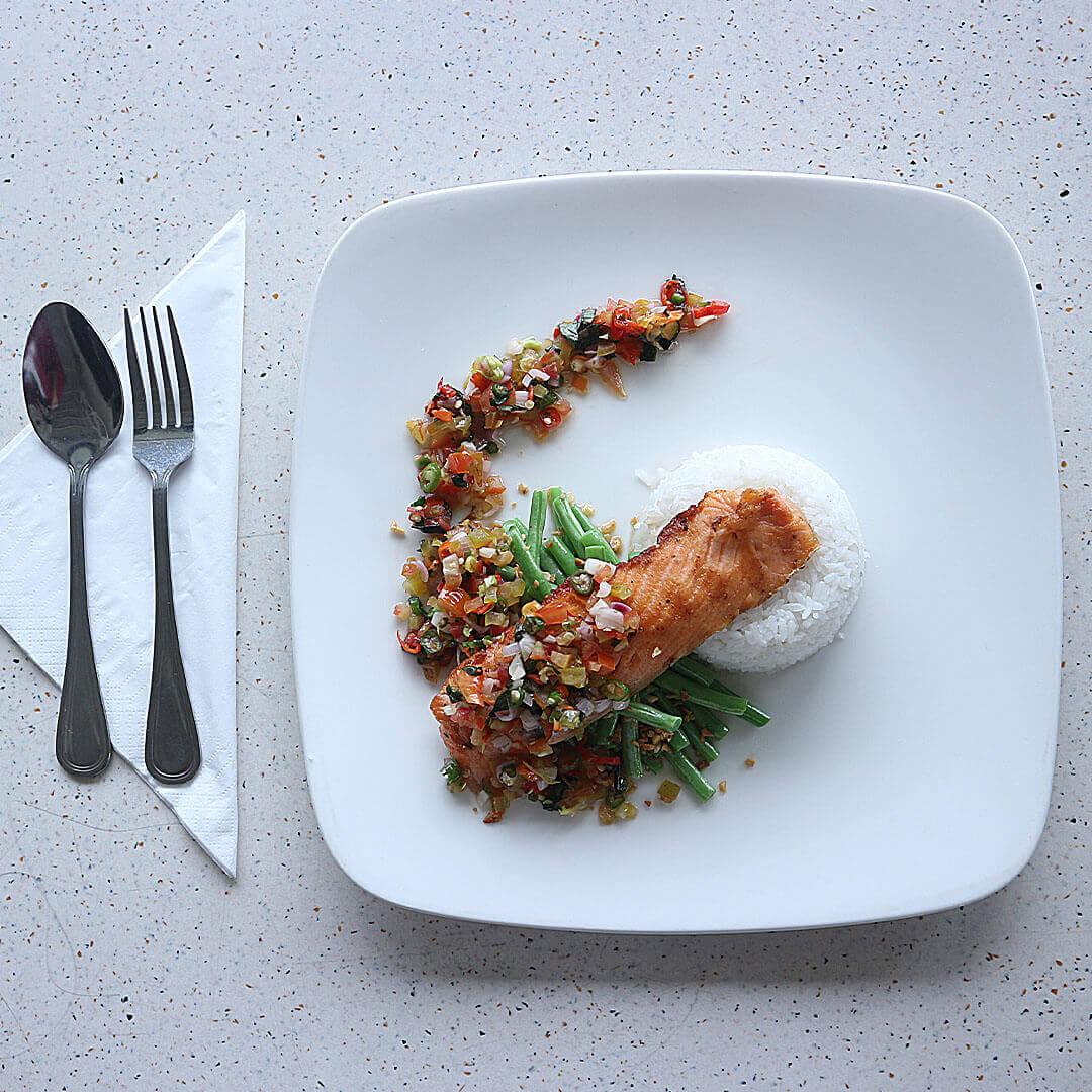 Salmon Dabu Dabu via dok. DuniaMasak.com