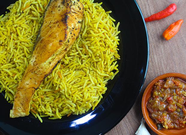 Nasi kebuli salmon dok. duniamasak.com