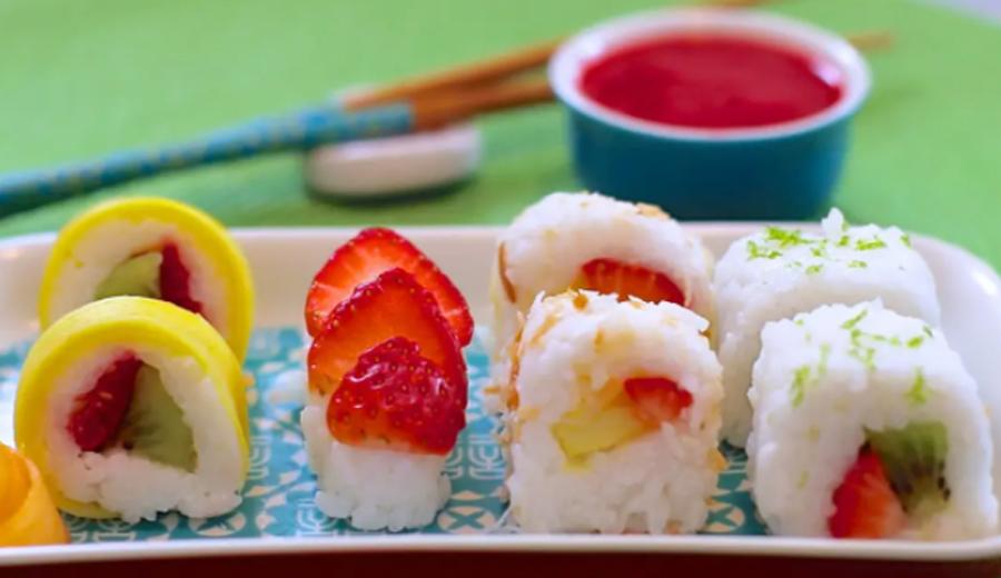 Resep sushi buah fruit banner via fimela ala duniamasak