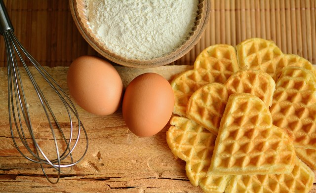 Waffle membuat kue via pixabay.com
