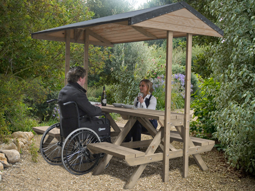 Disability-friendly Picnic Table Dunster House