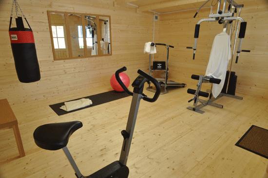 Home Gym Log Cabin Interior Dunster House