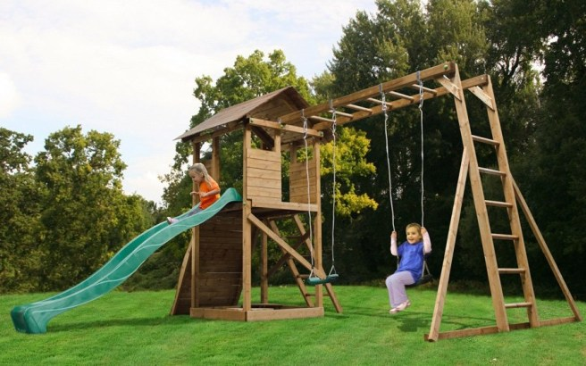 Play Styles Dunster House Climbing Frame