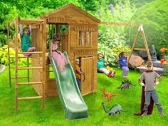 Playhouse Climbing Frame Dunster House