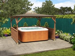 Hot Tub with Erin Gazebo Dunster House