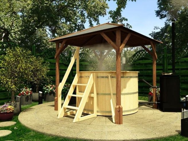 Hot Tub with Dunster House Gazebo