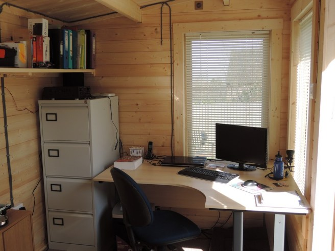 Working From Home - Log Cabin Dunster House Home Office