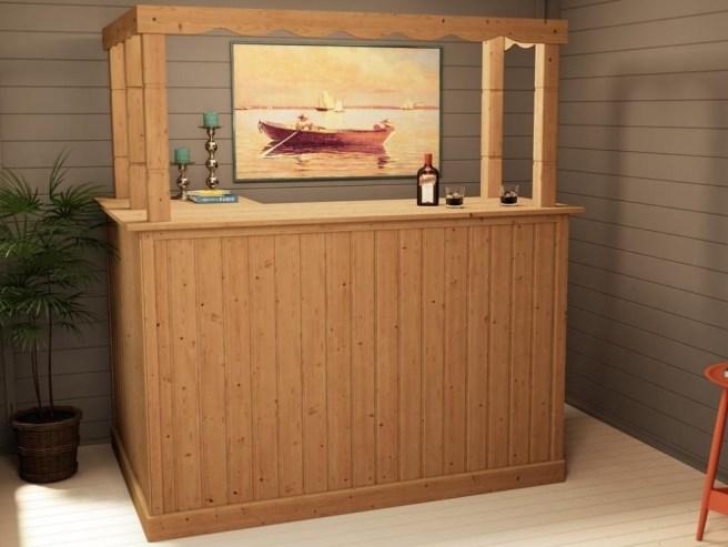 Bar in your log cabin - Dunster House Cabin Corner Bar