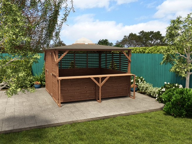 Erin Gazebo with panels and bar