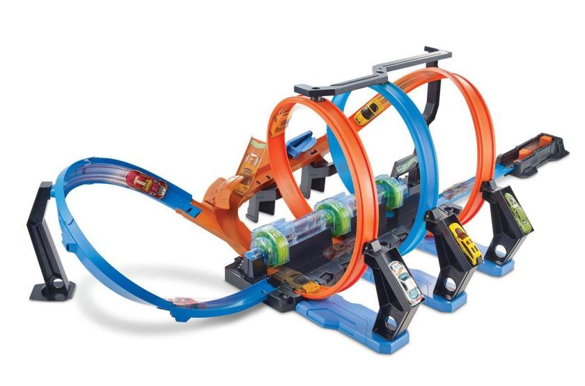 Hot Wheels Korkenzieher-Crash Trackset