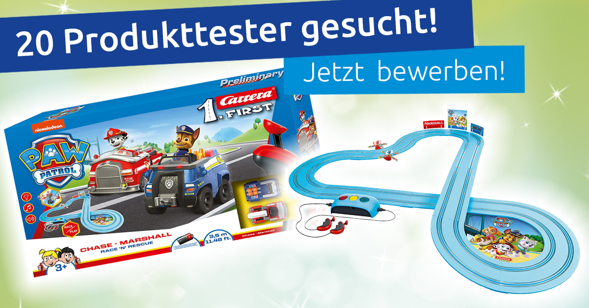 Produkttest: Carrera First Paw Patrol Race'n Rescue Autorennbahn