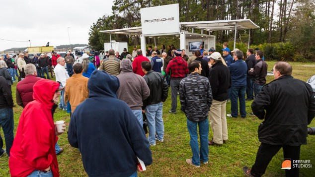 2014 03 Amelia Concours Day 1 - 03 Briefing Porsche Driving Expe