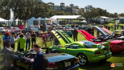 2014 03 Amelia Concours Day 2 - 12 Dodge SRT Vipers Time Exposur
