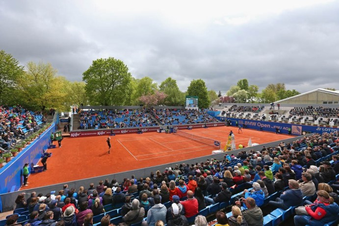 MUNICH, GERMANY - MAY 02: On Court Activities during the BMW Open 2015 on May 2, 2015 in Munich, Germany. (Photo by Alexander Hassenstein/Getty Images)