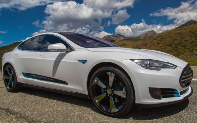 STRUT Tesla at the Sun Valley Road Rally